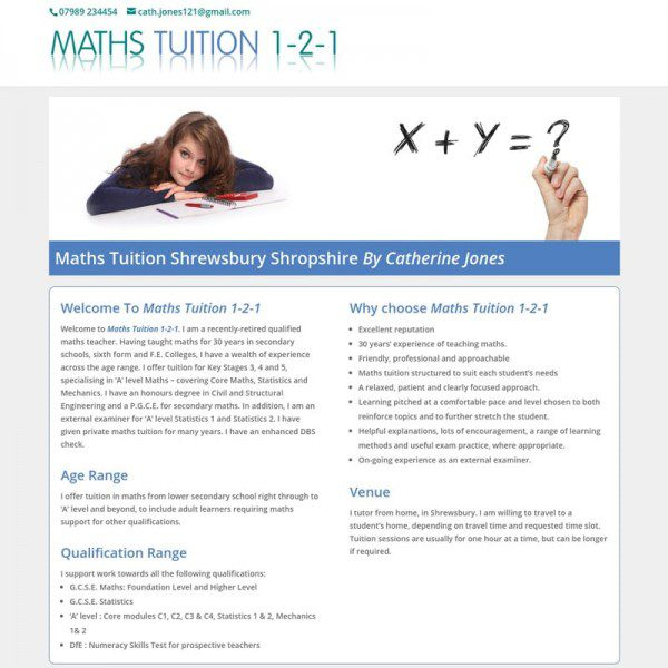 Maths Tuition Shrewsbury