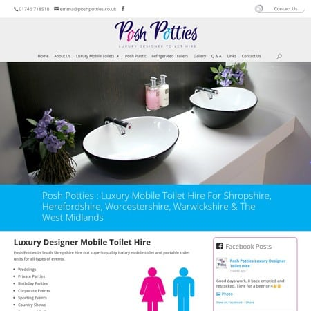 Posh Potties Toilet Hire