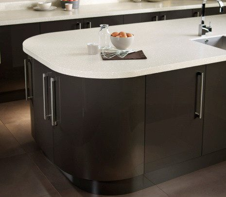 Image of Black and White Encore Worktop