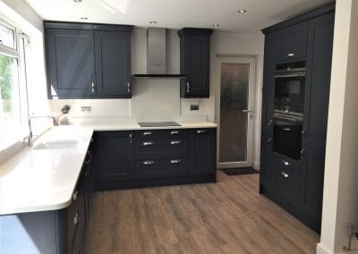 Oxford Blue Painted Wood Kitchen