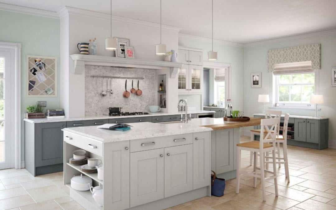 Image of a white kitchen design from Room By Room.